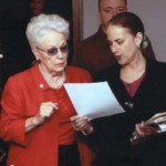 Cynthia directing former Governor Ann Richards